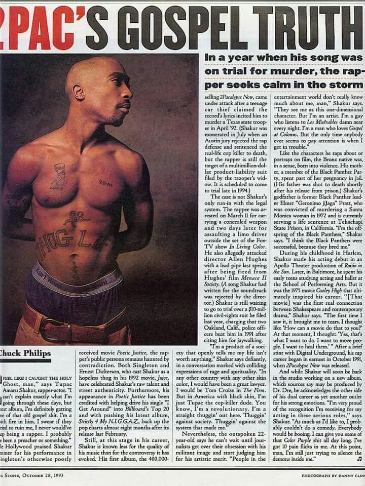 2Pac's Gospel Truth newspaper article.