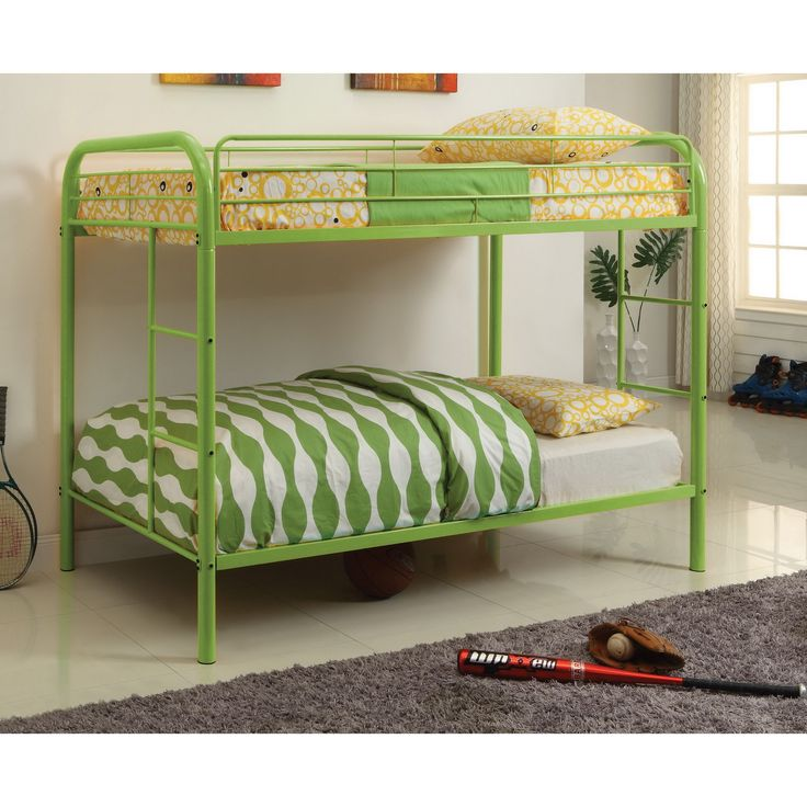 Furniture of America Linden Over Bunk Bed