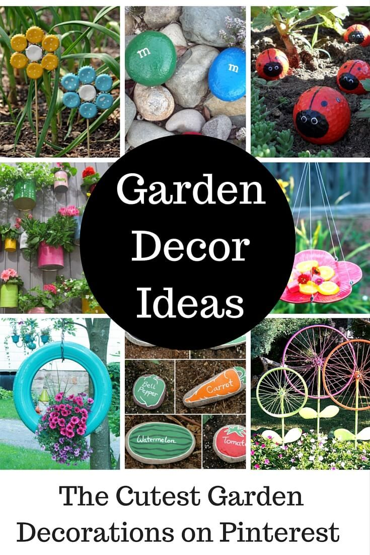 Check out the cutest garden ideas and garden decorations that you can DIY! Pinterest has tons of great ideas, but these are by far the best!