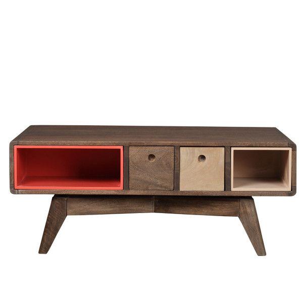 Prostokątny stolik Woodjam Play Dark