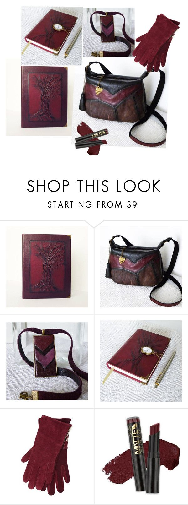 """""""Burgundy leather accessories"""" by annakis on Polyvore featuring M&Co and L.A. Girl"""