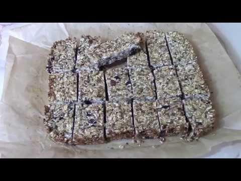 Батончики мюсли из орехов и сухофруктов - YouTube