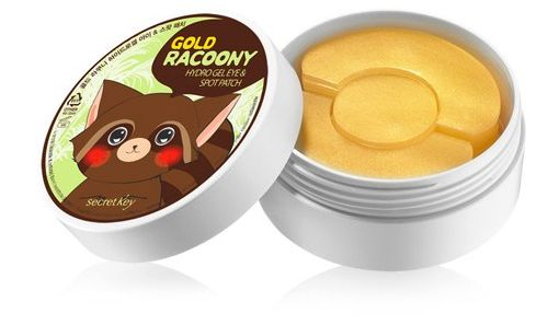 Secret Key Gold Racoony Hydro Gel Eye Patches are soothing patches that contain colloidal gold to brighten, tighten and soothe your exhausted skin!