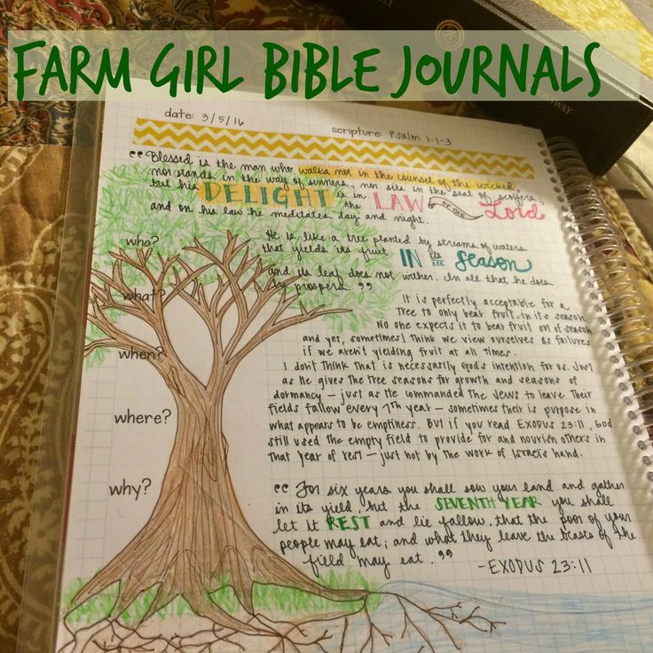 I LOVE Farm Girl Journals' Bible Journals! They help me process and study God's word in a creative way. www.etsy.com/shop/FarmGirlJournals