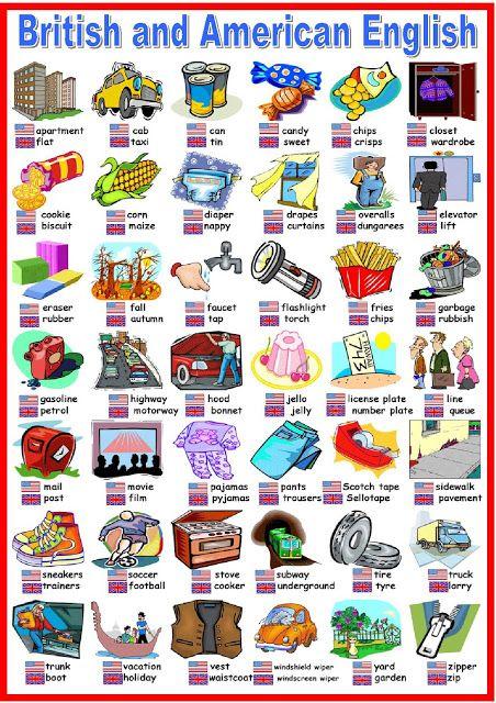 English is so fun!: British vs American English