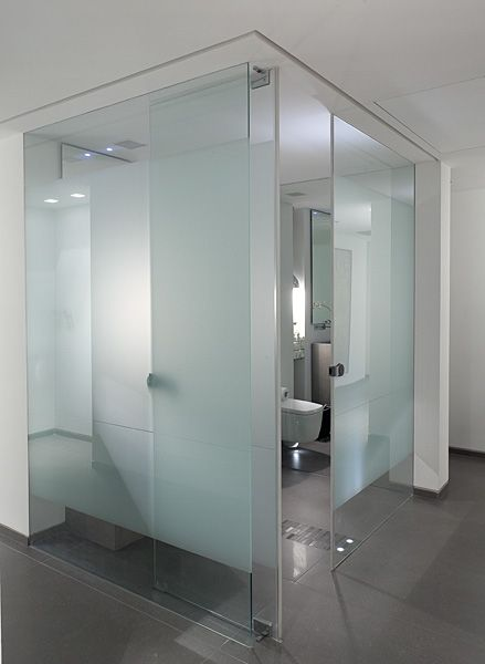 Frosted glass. For. Toilet and bidet. Love the idea of having. Clear glass walled. Bathroom /. Wet room. Or. Glass walled bedroom. I'd. Adore that