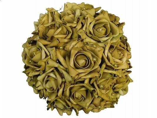 Świat-dekoracji.pl:  Bukiet z róż z perełkami, zielony, 30cm, 1szt.OPI...