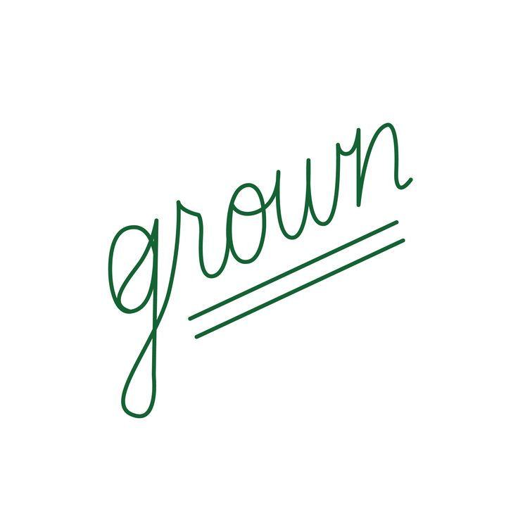 Grown Eatery logo designed by Cherie Allan - @designbycherie - cherieallan.design