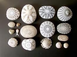 crochet covered sea stones. Amazing..Check it out. www.purlbee.com/… Lisa Weeks