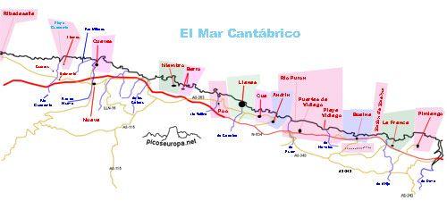 Fotos, panoramicas, y rutas de la Costa de los Picos de Europa (Asturias)