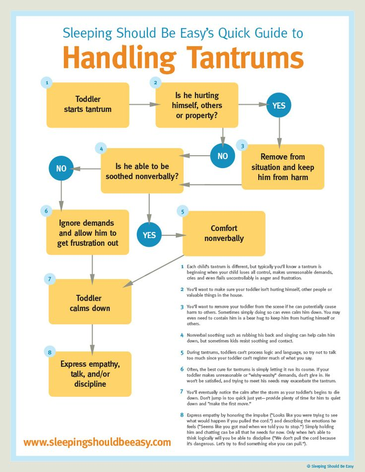 Struggling with your child's tantrums? A step-by-step guide on handling tantrums with your toddler (infographic included).