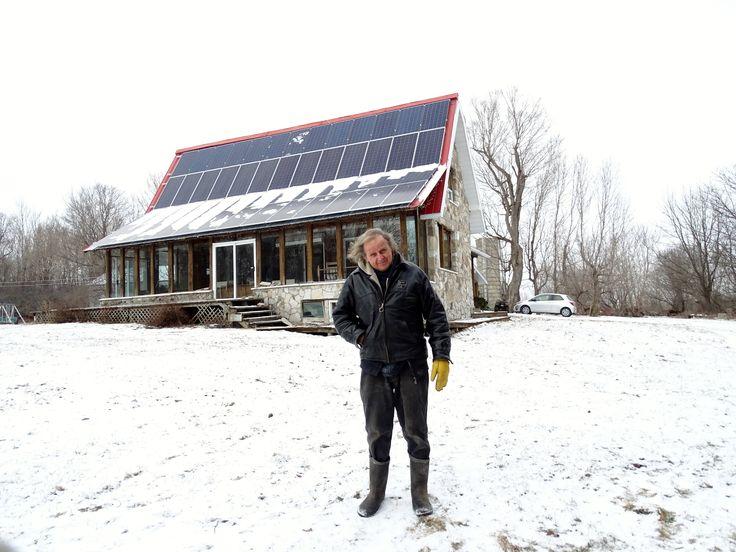 Une toiture... électrisante à Hemmingford ·