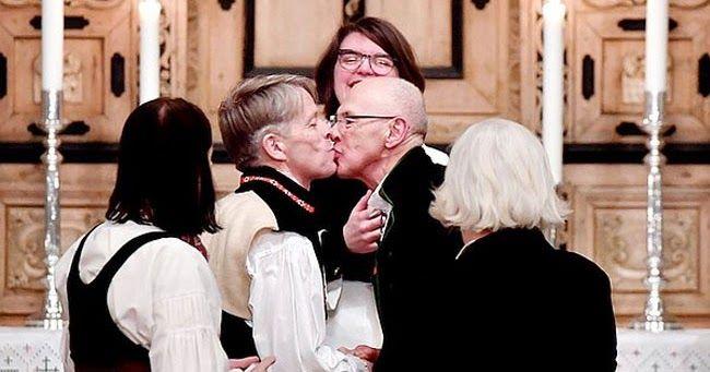 Kjell ed Erik fanno storia: ecco la prima coppia gay ad essersi sposata in una chiesa norvegese