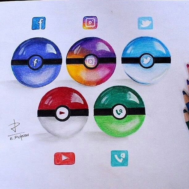 Art, pokemon , social media