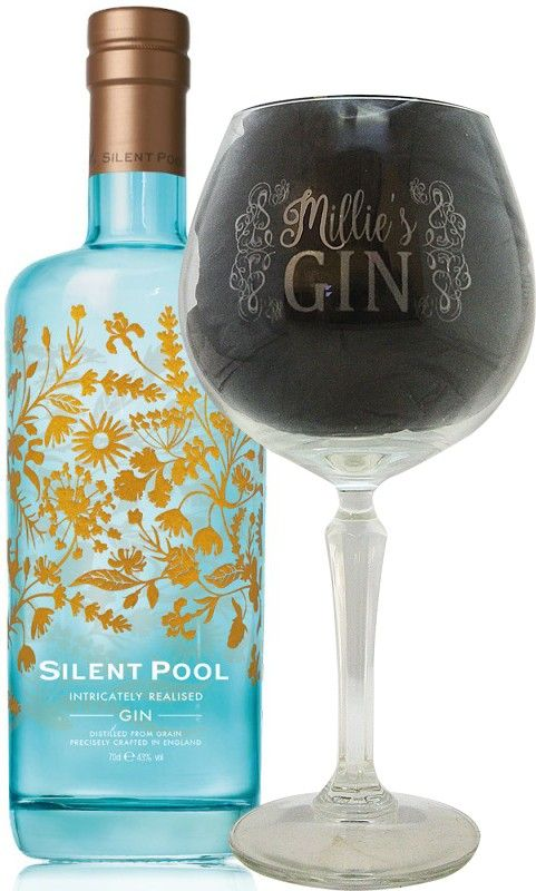 Silent Pool Gin presented with personalised 'My Gin' balloon gin glass - 700ml