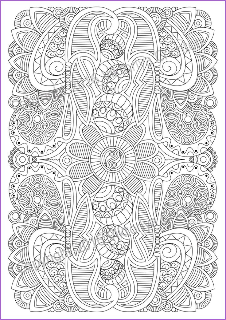 Coloring Page Adult And Children PDF Zentangle By ZentangleHouse Viktoriya Crichton Art Illustration