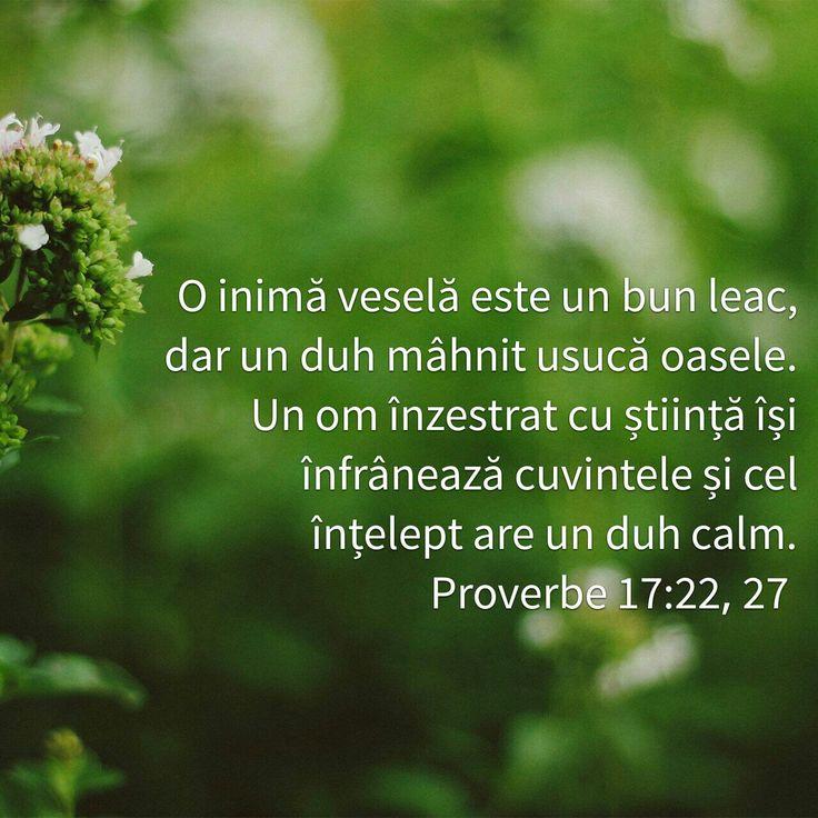 Proverbe 17:22,27
