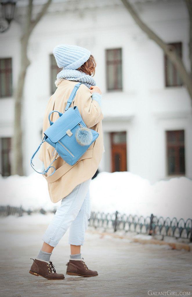 3.1 phillip lim blue pashli backpack, cold days outfit, cold winter days outfit, outfit for cold days, camel coat outfit