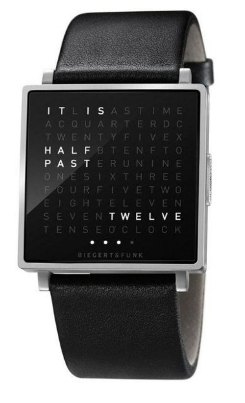 want.Time, Men Watch, Stuff, Style, Cool Watches, Wall Clocks, Qlocktwo, Products, Digital Watches