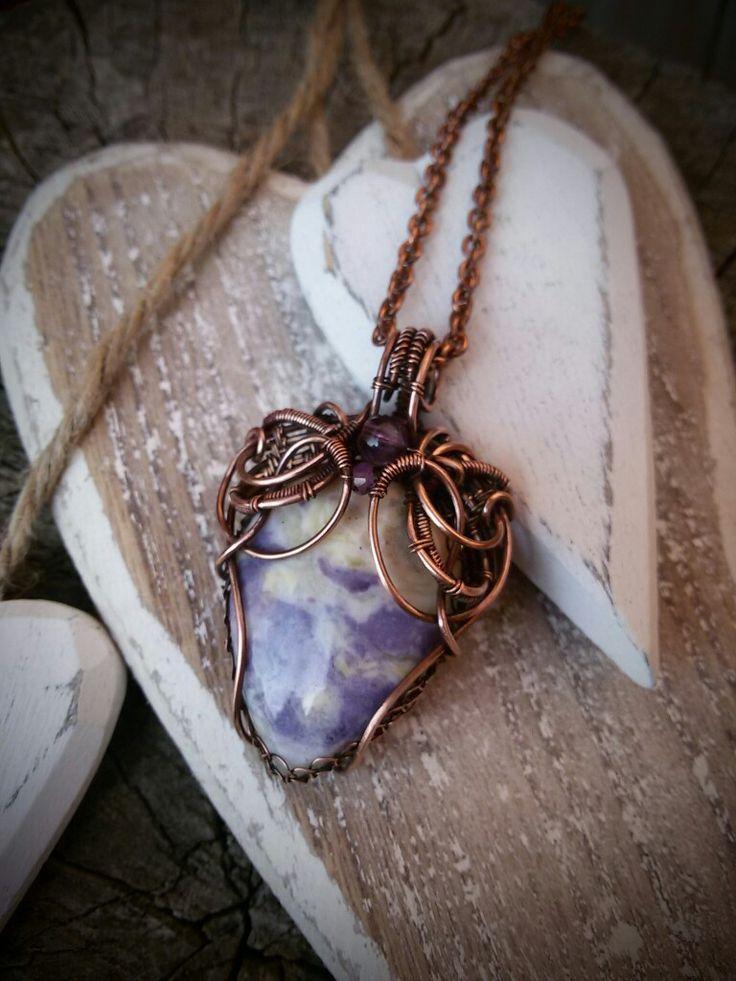 Morado opal copper jewel