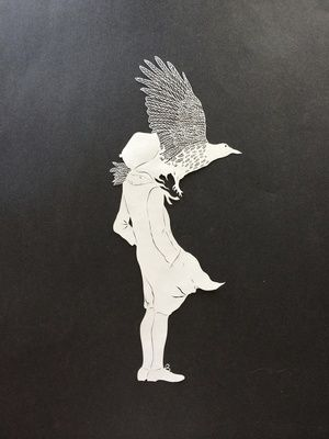 Brave Girl by Maude White papercut art