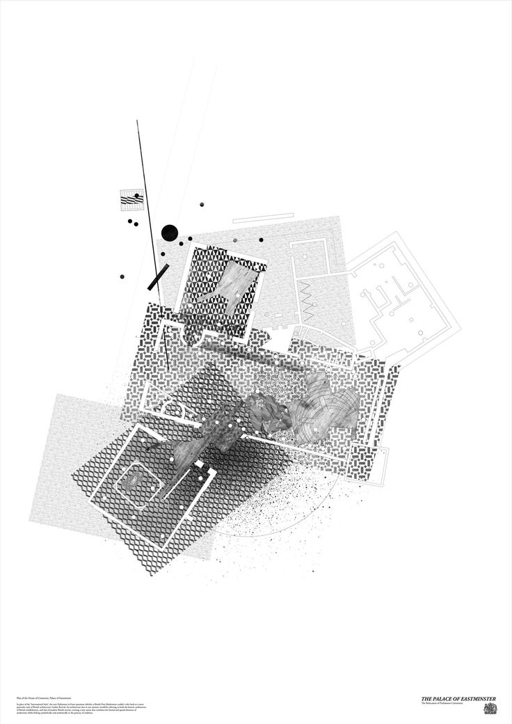 Plan of the House of Commons, Palace of Eastminster, 2013