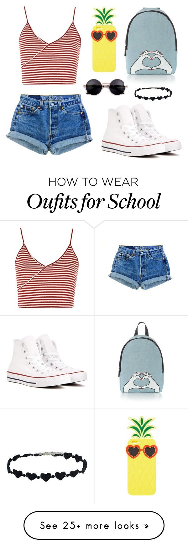 """Converse Cutie"" by claire394 on Polyvore featuring Topshop, Converse, Charlotte Russe and Lulu Guinness"