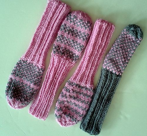 Ravelry: bittenbyknittin's Golf Club Head Cover - pink and gray