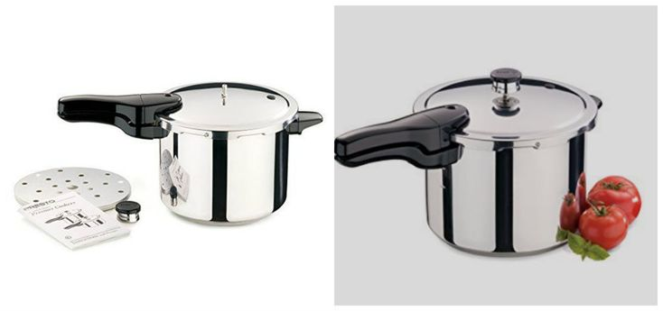 Stainless Steel Pressure Cooker 6 Qt Stovetop Cooking Pot Induction Cover Lock   #NewPressureCookers