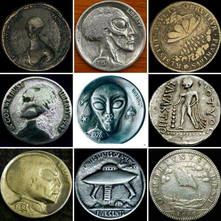 UFOS and ALIENS — aliens in coinage, who are these creatures …..