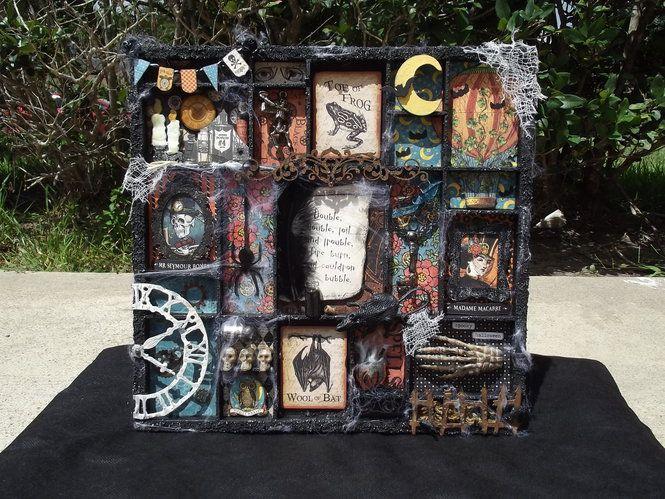 Steampunk Halloween shadow box