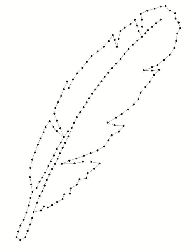fadenbilder-nageln-motiv-feder-vorlage-ausdrucken-eckpunkte (Cool Crafts Free Pattern)
