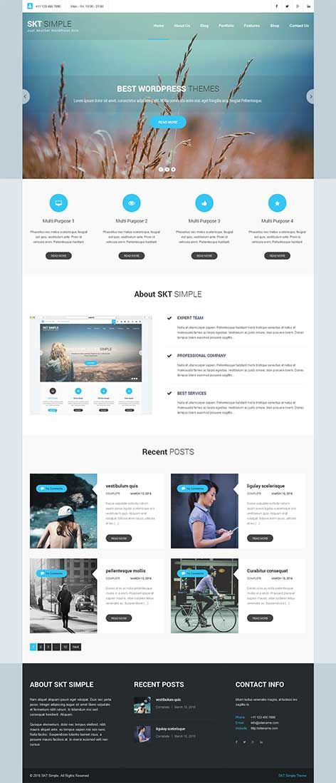 Responsive to the Core and Mobile Friendly Free Simple WordPress Theme