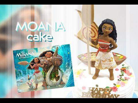 moana vaiana cake topper fondant tutorial oceania pasta di zucchero torta - YouTube