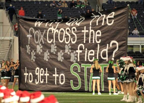 run through signs for high school football games