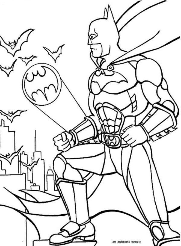 free bat signal coloring pages - photo#25