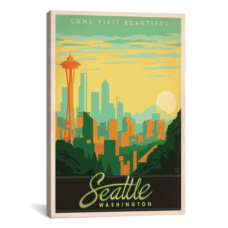 iCanvas Art Anderson Design Group SeattleWashington Canvas Print