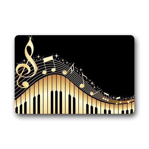 Piano Music Note Art Custom Design Nonslip Doormat Fashion Unique Durable Top Doormats IndoorOutdoor Machinewashable Door Mat Gate Pad 30x18 Inches ** For more information, visit image link.
