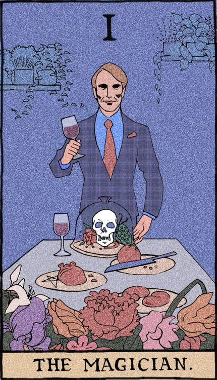 Hannibal Tarot Deck - not an actual thing that I know of, but damn! would it be cool if it were.