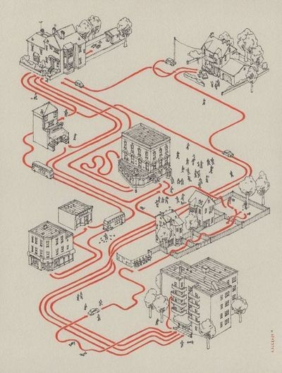 [Shaun of the Dead, story map] by Andrew DeGraff  MAPS AND STORIES ARE INSEPARABLE
