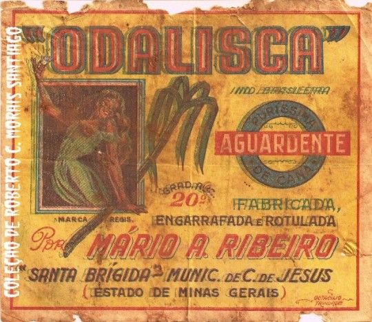 Cachaça  label.Brasil