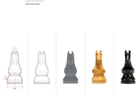 Designing the Knight - World Chess set by Daniel Weil