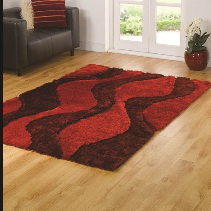 Buy Online Pearl Red Shaggy Rug At An Affordable Price. Price Match Promise  Even After Purchase.