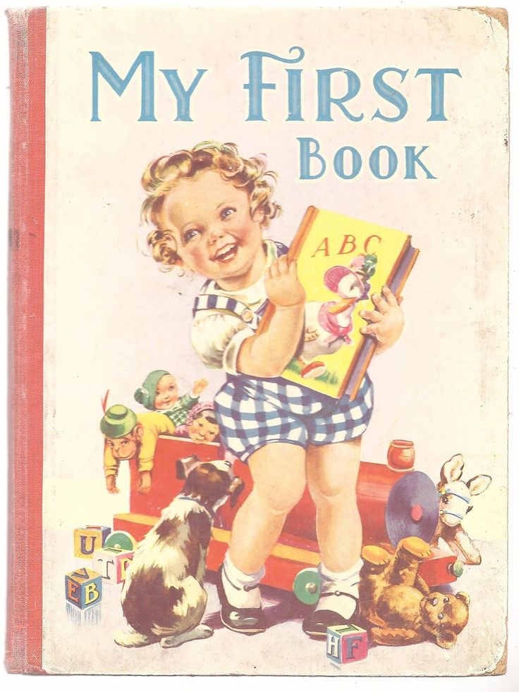My first book birn brothers ltd 1951 childrens book, old english letter b