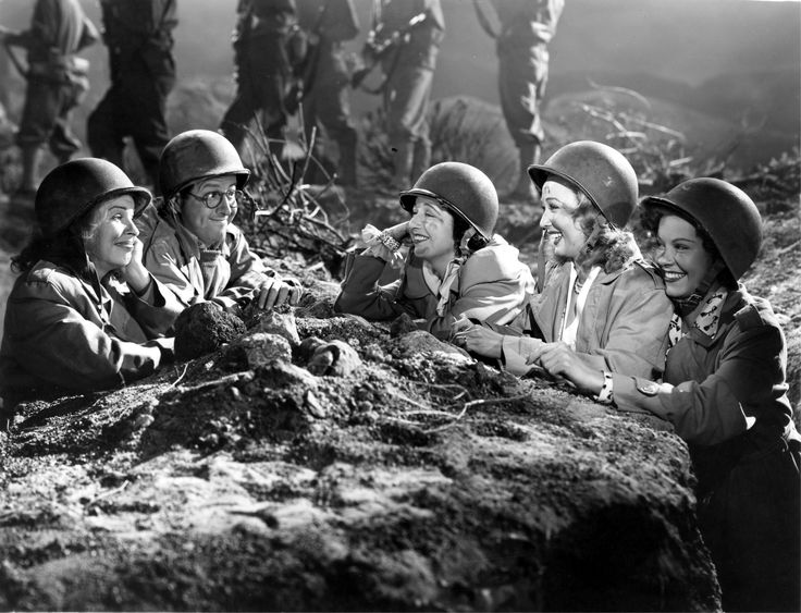 From Left to Right:  Martha Raye, Phil Silvers, Kay Francis, Carole Landis and Mitzi Mayfair - FOUR JILLS IN A JEEP