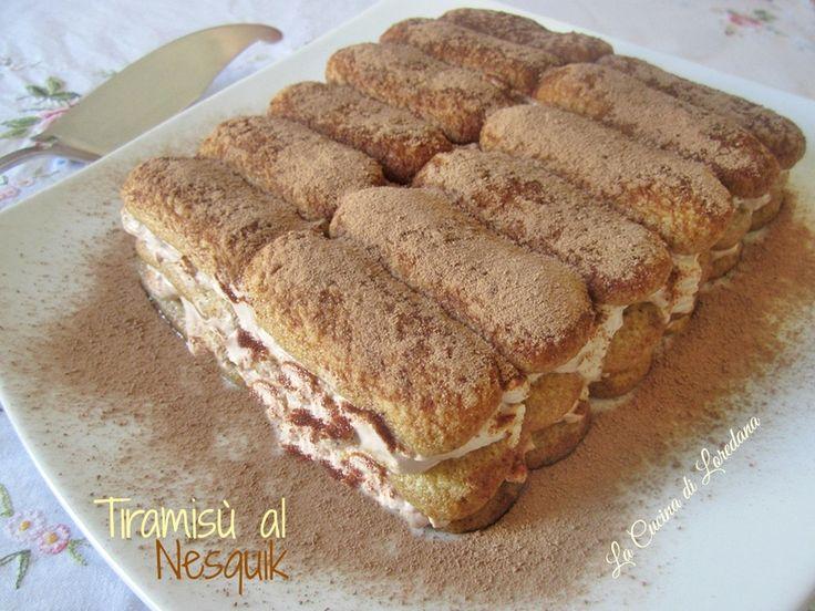 Una versione golosa di un dolce classico: Tiramisù al Nesquik, semplice e veloce, senza uova e senza caffè, adatta anche ai piccoli di casa