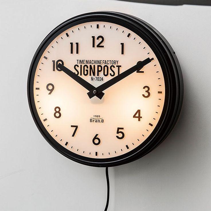 【送料無料】掛け時計電波時計セヴノークスCL-2139インターフォルム【壁掛け時計壁時計時計壁掛け間接照明インテリア雑貨インテリアアンティークメンズライクシックアメリカンおしゃれプレゼントギフトクリスマス】