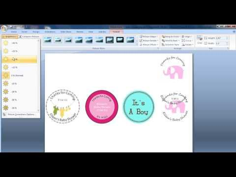 Create Circular Baby Shower Tags with MS Power Point