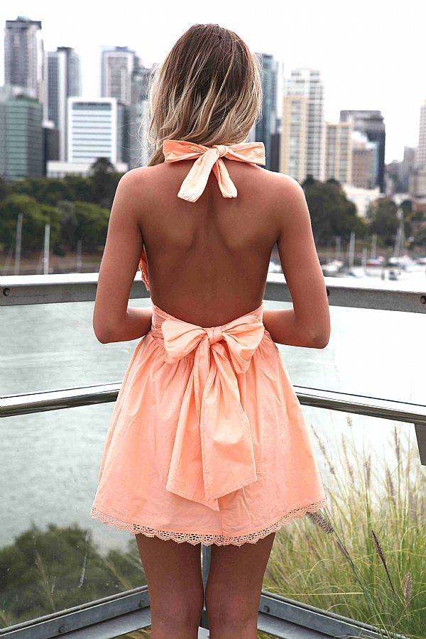 bow back dress. cute