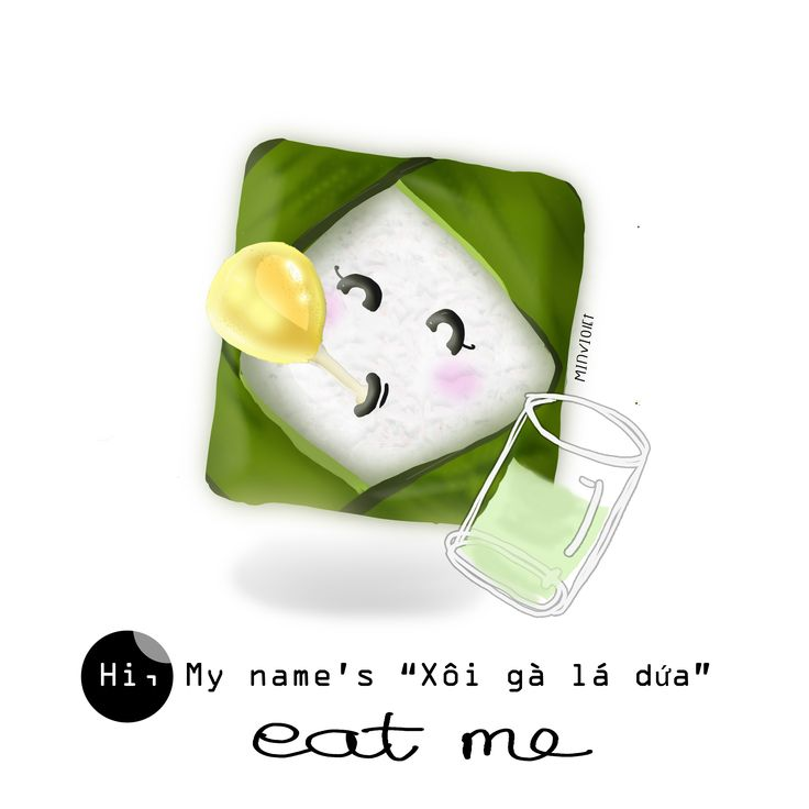 Food, illustration, cute, chibi